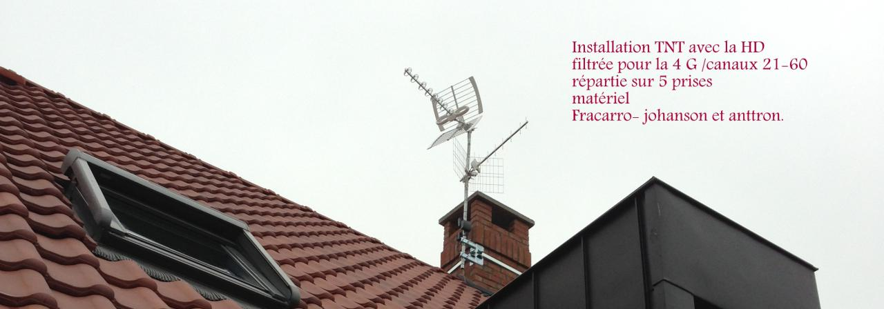 installation TNT France HD& TNT belges sur 5 prises
