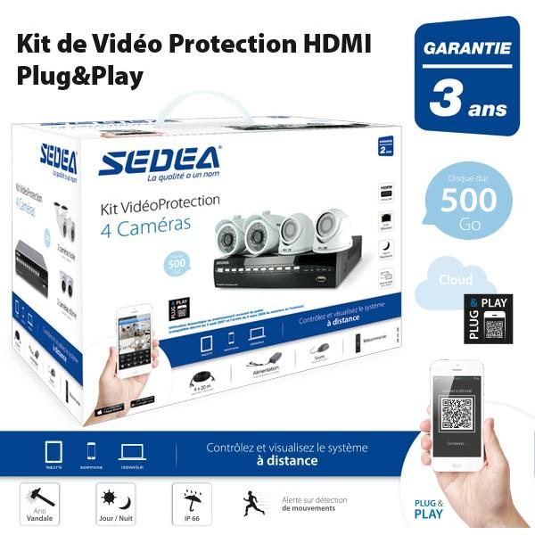 Sedea kit 4 cameras dvr TNTHD59